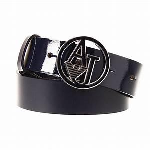 Armani jeans Belt Cintura Buckle Logo Tondo Smatato Patent ...