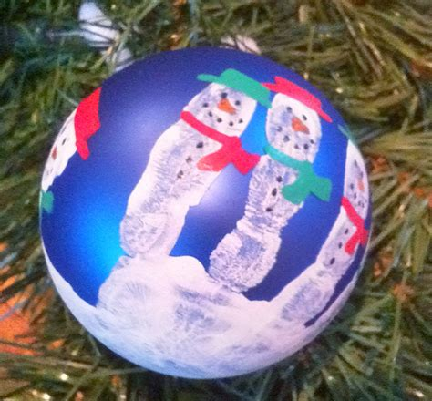 handprint snowman christmas tree ornament macaroni kid