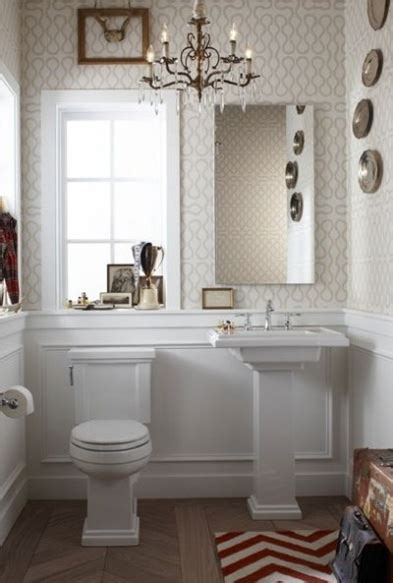 adorable powder room design  wainscoting white