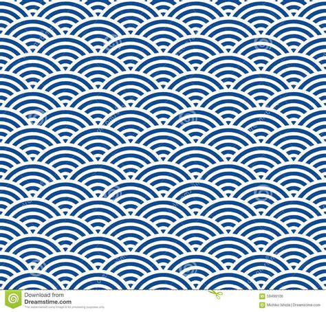 Japanisches Bild Welle by Japanese Wave Pattern Stock Illustration Image 59499106