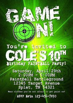 printable laser tag invitations template birthday