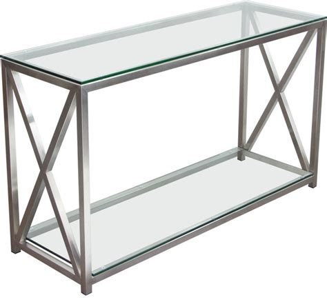 glass console table with shelf x factor console table with clear glass top and shelf