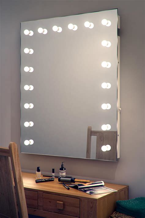Vanity Table With Lights Around Mirror by Large Makeup Table Wall Mirror With Bulb Lights Of Mirror
