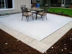 pavers   concrete slab good possibility   don