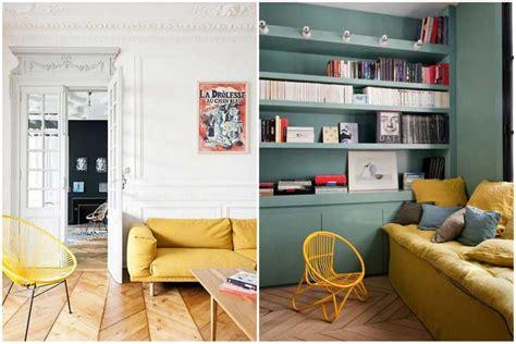 canapé rotin maison du monde la couleur jaune moutarde pour un intérieur chaleureux