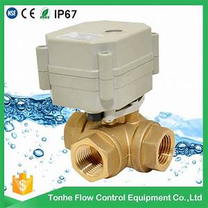 China 3 Way Electric Flow Control Brass Water Ball Valve