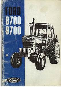 Ford Tractor 8700 9700 Operators Manual