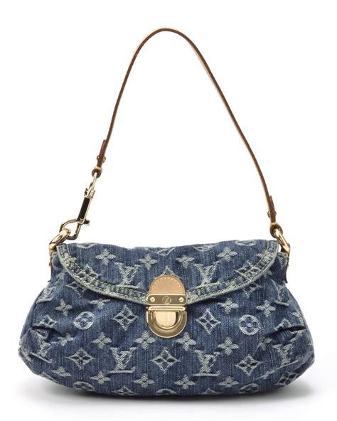 lyst louis vuitton monogram denim mini pleaty handbag  blue