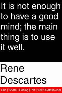 Rene Descartes ... Dualism Philosophy Quotes