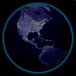Earth night lights from space | High Resolution Night View ...