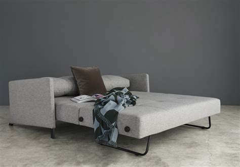 cubed  fabric arm sofa bed innovation living melbourne