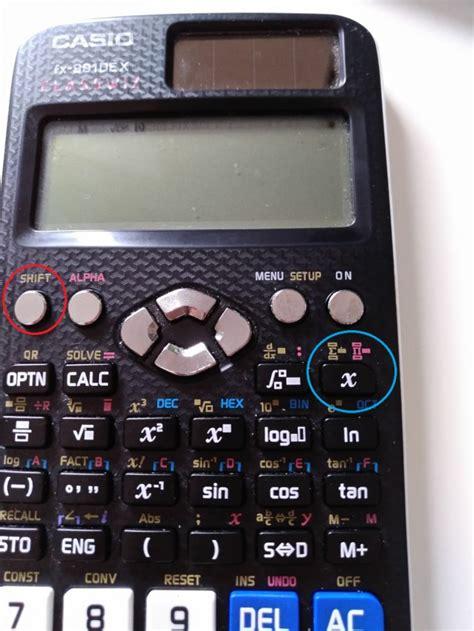 taschenrechner casio fx dex classwiz eingabe