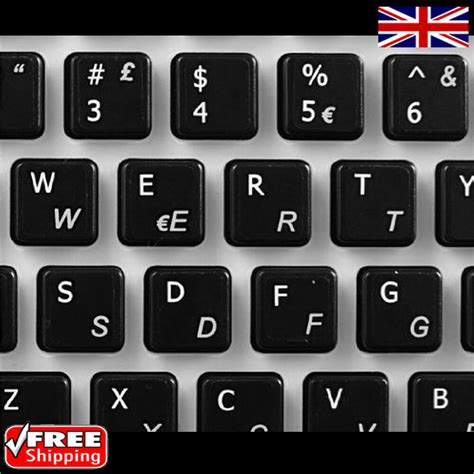 Keyboard Stickers Italian Transparent Keyboard Stickers With White Letters