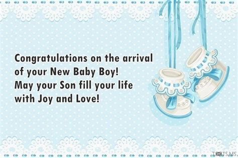 congratulations   arrival    baby boy txtsms