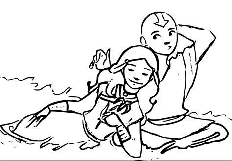 Kataang Aang And Katara Avatar Aang Coloring Page 2141451