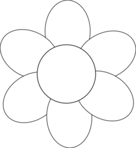 free printable flower template early play templates mothers day flower templates and clip