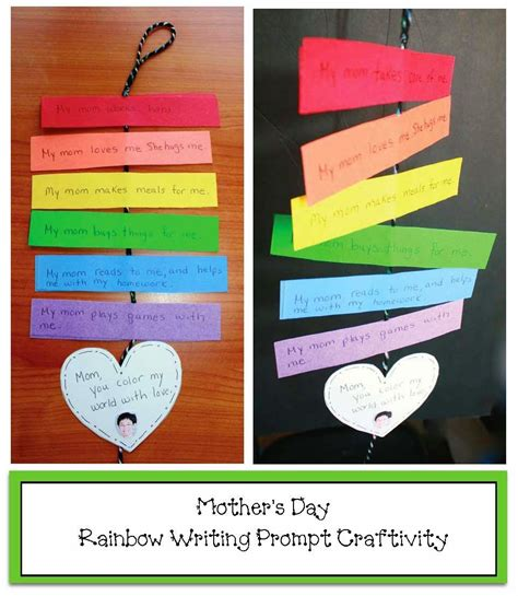 rainbow mothers day writing prompt craft mothers day