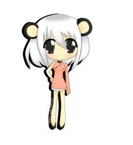 Anime Chibi Panda Girl