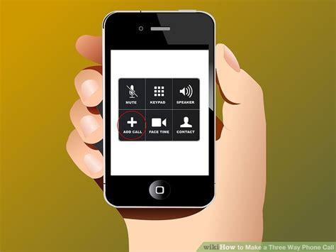 iphone three way call 4 ways to make a three way phone call wikihow 15484