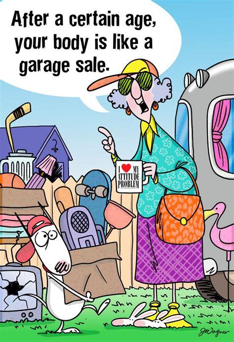 maxine aging    garage sale funny birthday card
