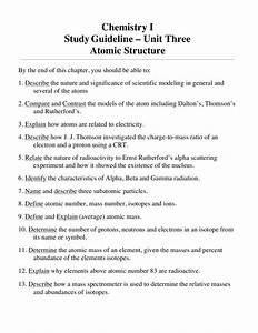 Chemistry Study Guide For Atomic Structure