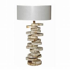 Lampe Bois Flotté : lampe esprit naturel atlantis luminaire en bois flott ~ Teatrodelosmanantiales.com Idées de Décoration