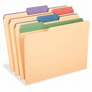 Tops Colored Tab Manila File Folders - 12 Per Pack
