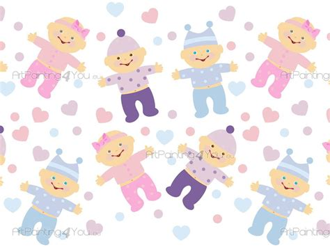 frises papier peint enfant b 233 b 233 gar 231 on fille 1094fr