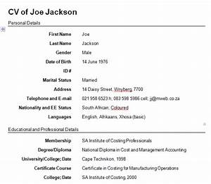 50 free resume cv templates With how to write cv form