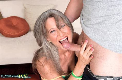 Flat Chested Cougar Leilani Ravages A Younger Cock 1 Of 2