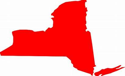 York State Clip Clipart Map Vector Outline