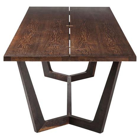 rustic industrial dining table jaxon industrial loft rustic burnt oak wood dining table