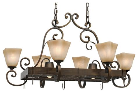 meridian 8 light pot rack traditional pot racks and
