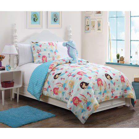 mermaid comforter set 3 mermaid comforter set multi walmart