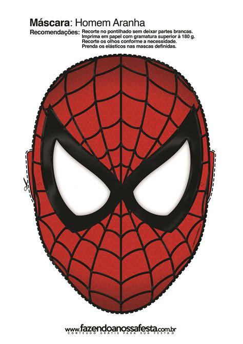 Vamos fazer máscaras do Homem Aranha para a sua festa