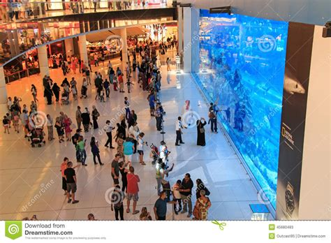aquarium in dubai mall world s largest shopping mall editorial stock photo image 45680483