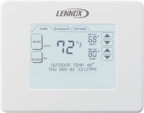mm comfort systems lennox comfortsense 174 7000 series touchscreen thermostat