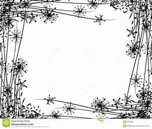 Winter Flower Garden Border Stock Illustration - Image ...