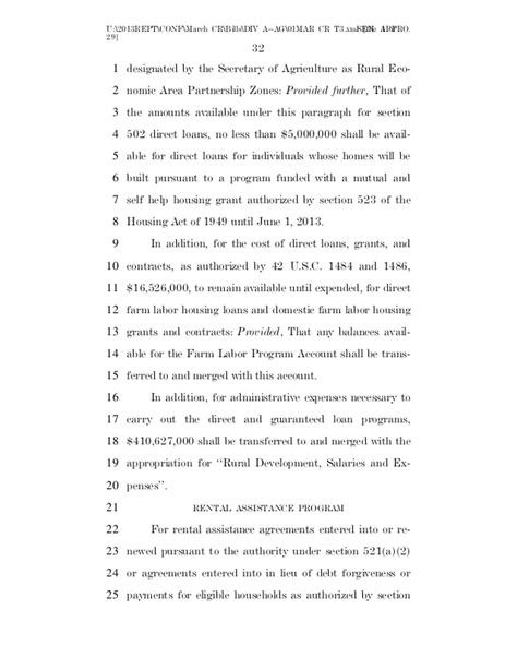 section 502 direct loans enacted 2013 continuing resolution march