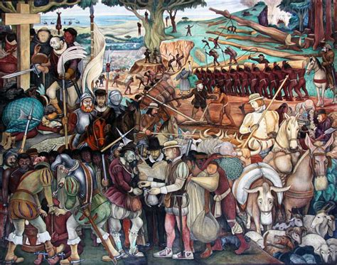 images of murals by diego rivera in the palacio nacional de mexico