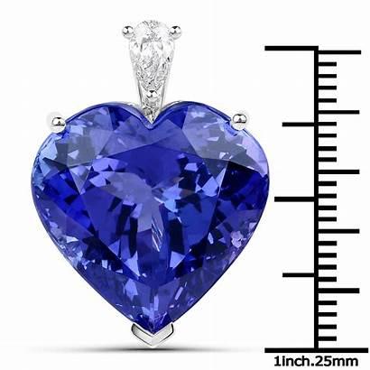 Heart Carat Tanzanite Pendant Shape