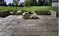perfect patio design ideas concrete Amazing Backyard Stamped Concrete Patio Ideas