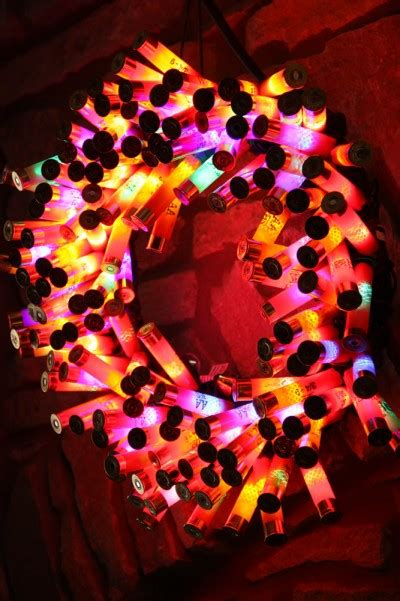 bam shotgun shell wreath