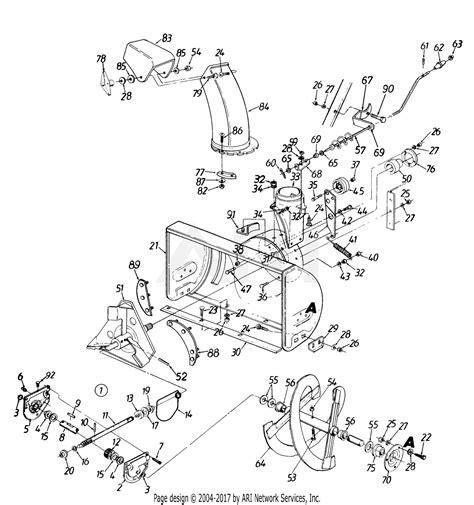 mtd    parts diagram  auger housing