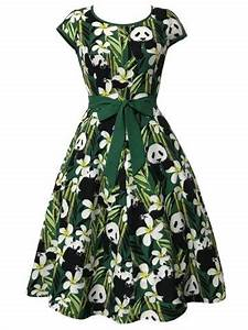 green s bamboo and panda print vintage dress rosegalcom With rosegal robe vintage