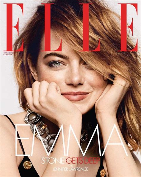 Emma Stone Covers The September 2018 Issue Of Elle Magazine