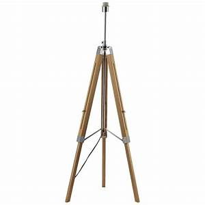 dar eas4943 easel tripod floor lamp in natural wood With chrome easel floor lamp