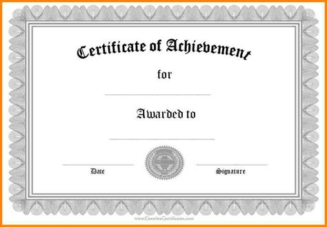 Free Certificate Templates For Word by Certificate Template Word Otcc Us