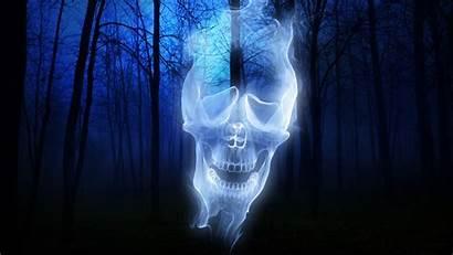 Ghost Skull Desktop Pc Forest Fire Rider