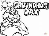 Groundhog Coloring Pages Printable Hog Drawing Line Ground Preschoolers Number Sheet Sheets Clipart Crafts Colorings Getcolorings Getdrawings Dot Happy Silhouettes sketch template